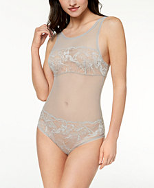 Calvin Klein Bird Sheer Lace Bodysuit QF4677