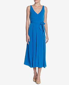 Catherine Catherine Malandrino Pleated Midi Dress