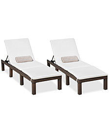 Wellington Outdoor Chaise Lounge (Set Of 2), Quick Ship