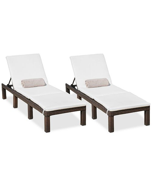 Noble House Wellington Outdoor Chaise Lounge (Set Of 2)