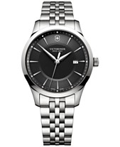 9e96f289752 Victorinox Swiss Army Men s Swiss Alliance Stainless Steel Bracelet Watch  40mm