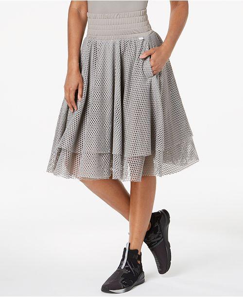 Puma En Pointe Mesh A-Line Skirt   Reviews - Skirts - Women - Macy s 816e844d1