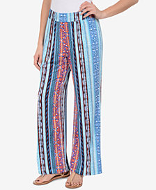 NY Collection Printed Wide-Leg Pants