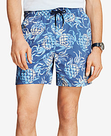 "Brooks Brothers Red Fleece Men's Printed 6"" Swim Trunks"
