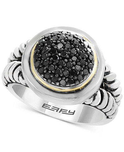 Balissima by EFFY® Diamond Cluster Ring (1/3 ct. t.w.) in Sterling Silver & 18k Gold