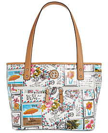 Giani Bernini Coated Canvas Tote, Created for Macy's