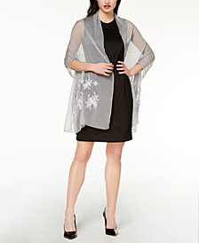 I.N.C. Embroidered Shine Evening Wrap, Created for Macy's