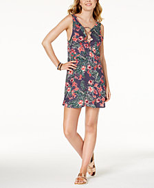 Roxy Printed Strappy Cover-Up Dress
