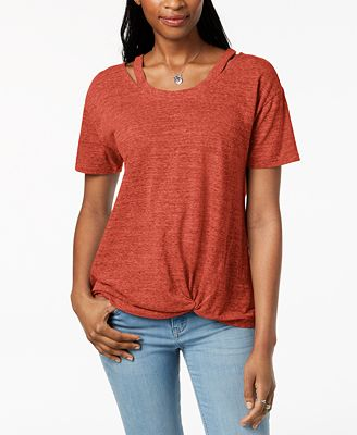 Style & Co Cutout High-Low T-Shirt, Created for Macy's