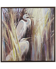 Madison Park Signature Seaside Egrets Hand-Embellished Framed Canvas Print
