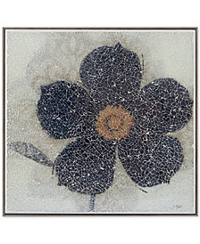 """Harbor House Mosaic Flower 16"""" x 16"""" Crushed Glass Wall Art"""