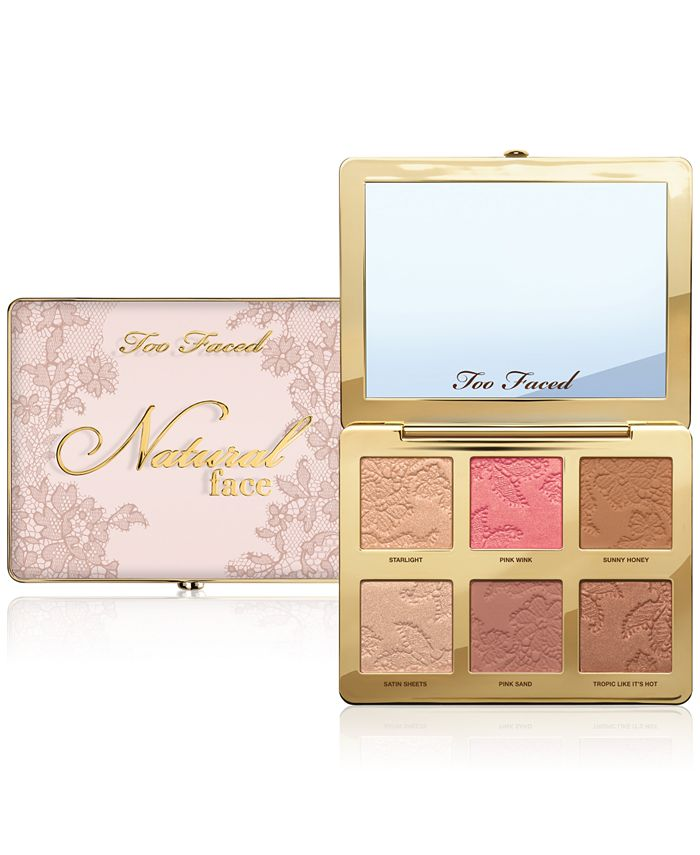 Too Faced - Natural Face Highlight, Blush, and Bronzing Veil Face Palette