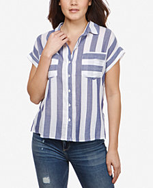 Lucky Brand Cotton Striped Short-Sleeve Shirt
