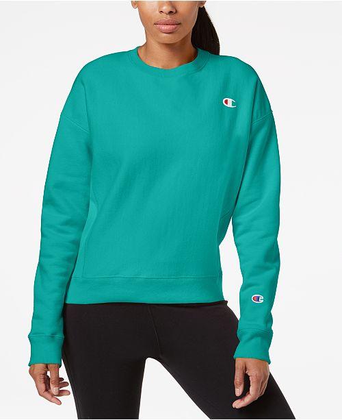 0143b0ee90f2 Champion Essential Reverse Weave Fleece Sweatshirt   Reviews - Tops ...