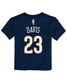 Nike Anthony Davis New Orleans Pelicans Replica Name & Number T-Shirt, Little Boys (4-7)