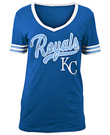 5th & Ocean Women's Kansas City Royals Retro V-Neck T-Shirt