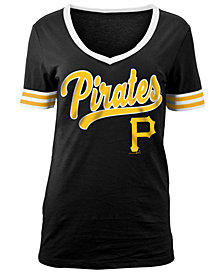 5th & Ocean Women's Pittsburgh Pirates Retro V-Neck T-Shirt