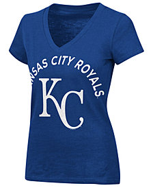 G-III Sports Women's Kansas City Royals Classic Logo V-Neck T-Shirt