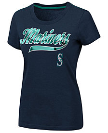 G-III Sports Women's Seattle Mariners Script Foil T-Shirt