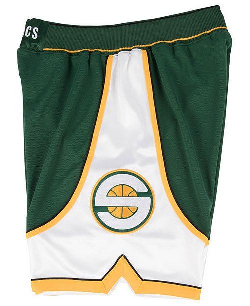 0374dd2cf39 ... Mitchell   Ness Men s Seattle SuperSonics Authentic NBA Shorts ...