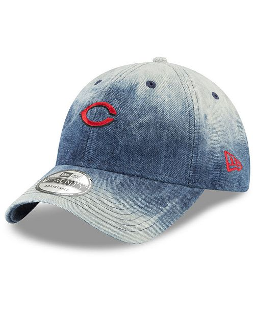a10a86d1136f1 New Era Cincinnati Reds Denim Wash Out 9TWENTY Cap - Sports Fan Shop ...