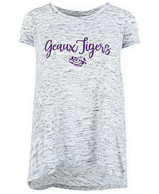 Royce Apparel Inc Women's LSU Tigers Ash Script Crew T-Shirt