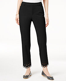 Charter Club Scalloped-Hem Cropped Pants, Created for Macy's