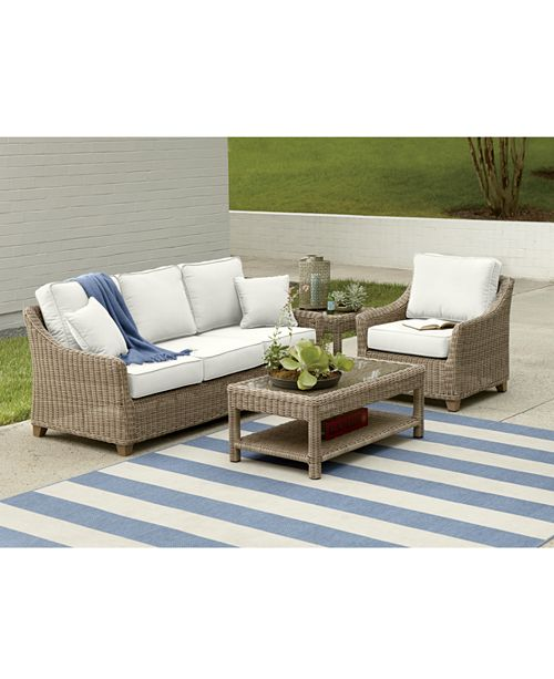 Macys Furniture Clearance: Furniture Willough Outdoor Seating Collection, With