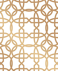 Cynthia Rowley for Tempaper Chainlinx Gold Self-Adhesive Wallpaper