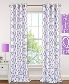 Kids' Candice Geo-Print Blackout Grommet Curtain Panels