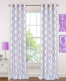 "Elrene Kids' Candice 52"" x  95"" Geo-Print Blackout Grommet Curtain Panel"
