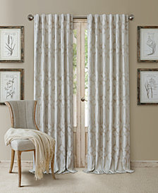 "Elrene Darla 52"" x 84"" Ironwork Blackout Rod Pocket/Back-Tab Curtain Panel"
