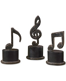 Uttermost Music Notes Art, Set of 3