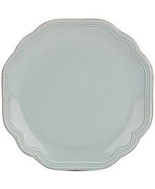 French Perle Bead Ice Blue Accent/Salad Plate