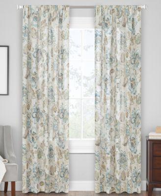 """Jacobean 50"""" x 63"""" Grommet Window Panel"""