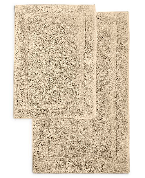 Martha Stewart Collection CLOSEOUT! Cotton 2-Pc. Bath Rug Set, Created for Macy's