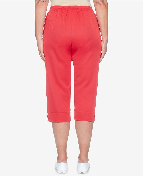 Red Cup Hem Pants Laced Capri On Alfred Dunner America's Pull EIxqnAxzvw