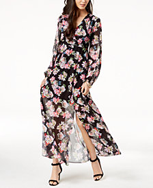 I.N.C. Petite Floral-Print Elastic-Waist Dress, Created for Macy's