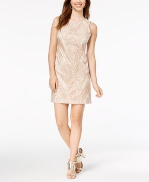 Vince Camuto Sequined Sheath Dress 5774850