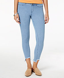 HUE® Women's  Step-Hem Original Denim Skimmer Leggings, Created for Macy's