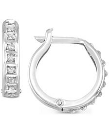 Diamond Accent Hoop Earrings