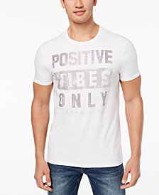 Sean John Men's Positive Vibes Only Rhinestone T-Shirt, Created for Macy's