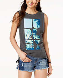 Hurley Juniors' Shapely Wash Biker Cotton Tank Top
