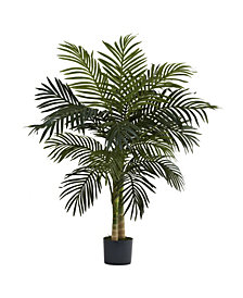 Nearly Natural 4' Golden Cane Palm Tree