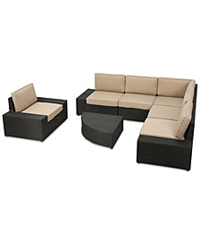 Harrison Outdoor 7-Pc. Sectional Sofa Set, Quick Ship