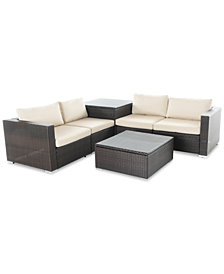 Malibu Outdoor 6-Pc. Sofa Set, Quick Ship