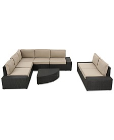 Brookside Outside 8-Pc. Sectional Sofa Set, Quick Ship