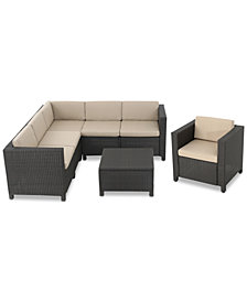 Ventura Outdoor 7-Pc. Sectional Sofa Set, Quick Ship