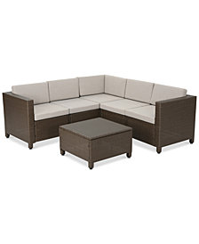 Westin Outdoor 6-Pc. Sectional Sofa Set, Quick Ship