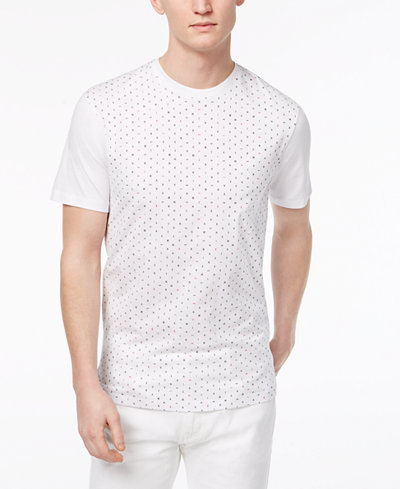 Armani Exchange Men's Ditsy Logo-Print T-Shirt, Created For Macy's